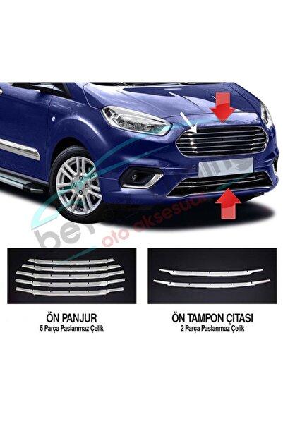 Niken Ford Courier Ön Panjur Kromu Nikelaj 7 Parça 2018 Sonrası