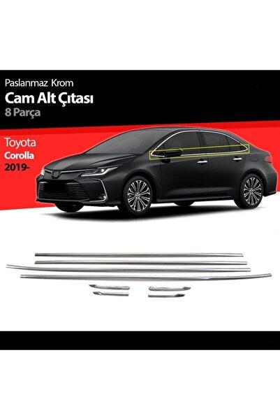 Niken Toyota Corolla Cam Çıtası Çerçevesi Full Kromu Nikelajı 2019 Sonrası