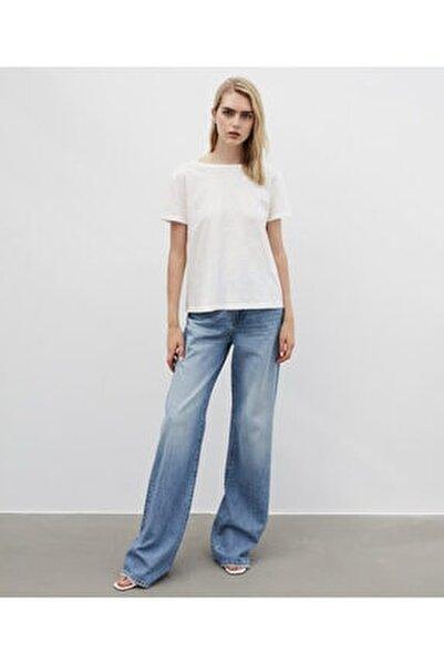Kadın Beyaz Basic Tişört