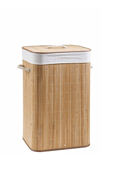 Lorin Katlanır Bambu Banyo Kirli Çamaşır Sepeti