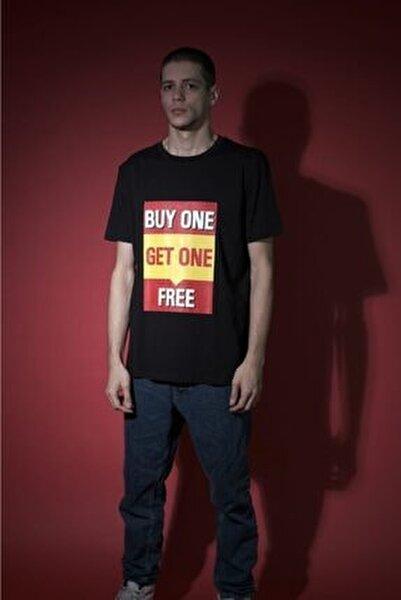 Erkek Siyah  Spor T-Shirt