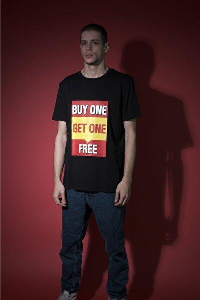 HOLEACADEMIE Erkek Siyah  Spor T-Shirt
