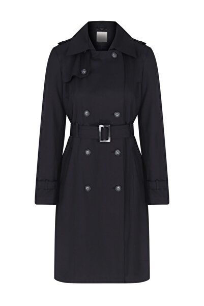 W Collection Kadın Siyah Pardesü