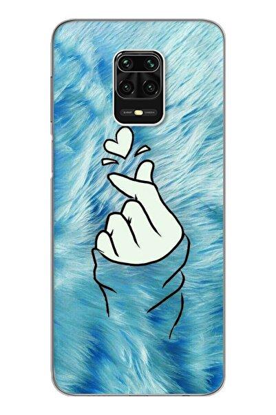 Spoyi Parmak Tasarım Süper Şeffaf Silikon Telefon Kılıfı Xiomai Redmi Note 9 Pro - Note 9s
