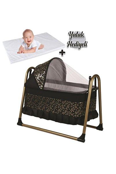 bebegen Gold Portatif Sallanır Bebek Beşik Siyah
