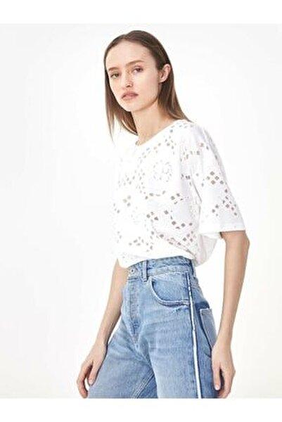 Kadın Beyaz Beyaz İş Tshirt TS1200070162002