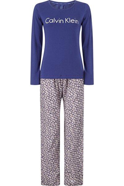 Calvin Klein Kadın Beyaz Desenli Pijama Takımı