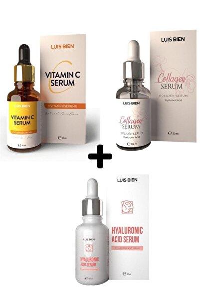 Luis Bien C Vitamini + Kolajen Serum + Hyalorünik Asit 3'lü Set