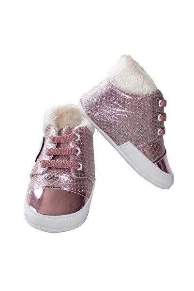 bebegen Kız Bebek Parlak Pembe Tüylü  Ayakkabı