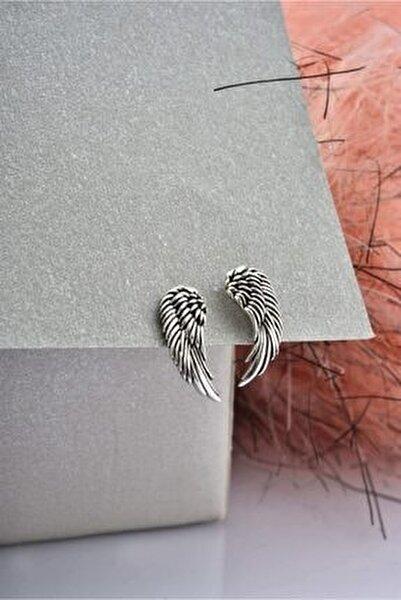 Kadın Melek Model Dekoratif İşlemeli Gümüş Küpe