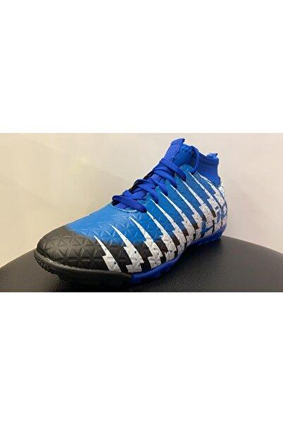 Lion Erkek Mavi Halı Saha Ayakkabısı