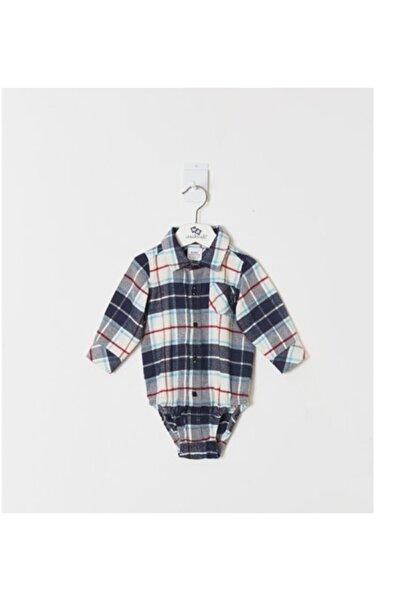 Wonder Kıds Erkek Bebek Lacivert Gömlek WK19AW1124