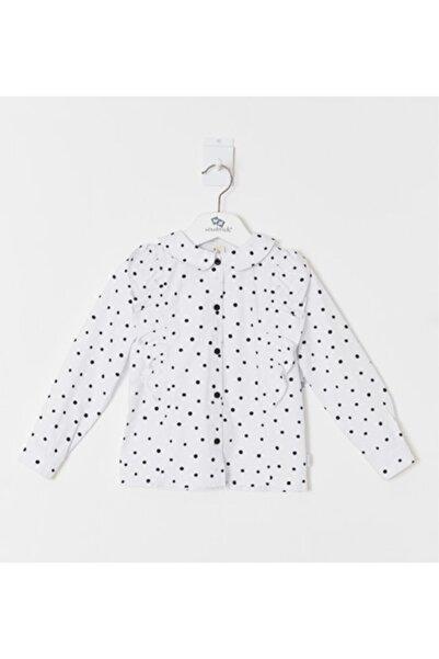 Wonder Kıds Kız Çocuk Beyaz Puanlı Gömlek WK19AW1233