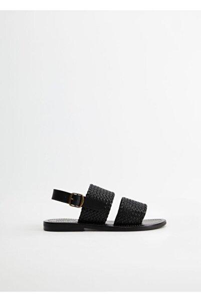 Violeta by MANGO Kadın Siyah Sandalet 77040057
