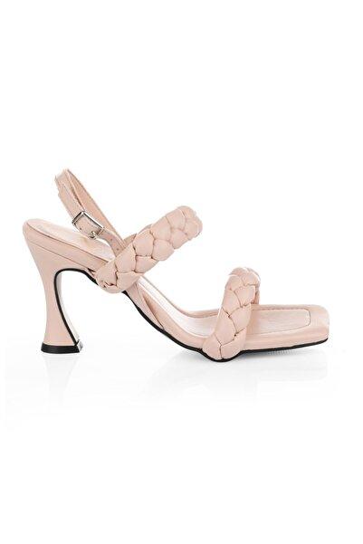 Oblavion Kadın Pudra Topuklu Sandalet