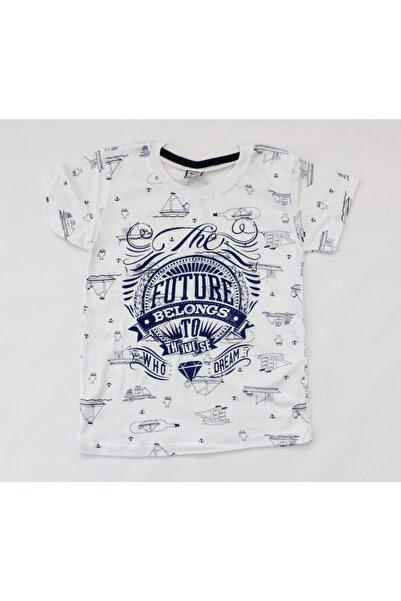 Keskin Erkek Çocuk Beyaz Aslı Tunç Giyim Tişört