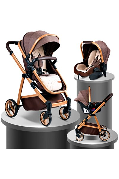 Baby Home Kahverengi Bh 955 Gold Vip Travel Sistem Bebek Arabası ve Puset