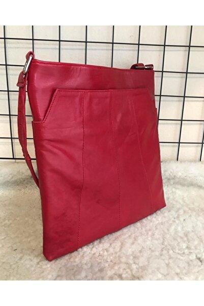 SOFA Kadın Kırmızı Heybe Fermuarlı Çanta