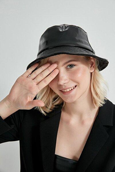 Y-London 13514 Rugan Siyah Bucket Şapka