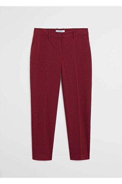 Violeta by MANGO Kadın Şarap Rengi Dar Kesimli Takım Pantolon  77052878