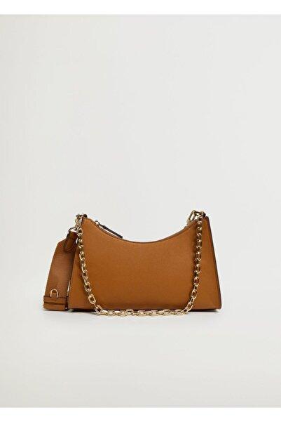 MANGO Woman Kadın Orta Kahverengi Çanta M