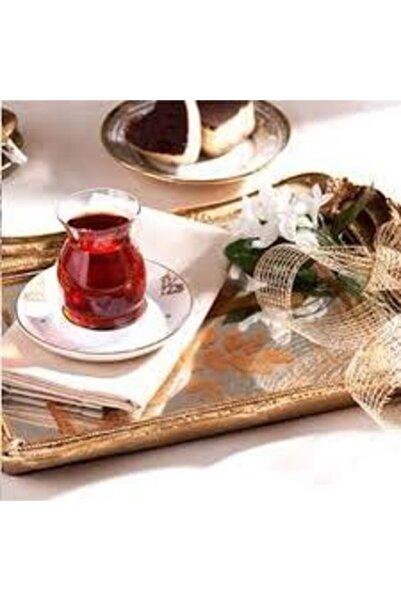 BİEV  Gold Tuğralı Ince Belli Çay Bardak Takımı