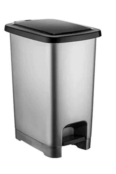 Şenyayla Plastik Gri Plastik Pedallı Çöp Kovası 40 lt