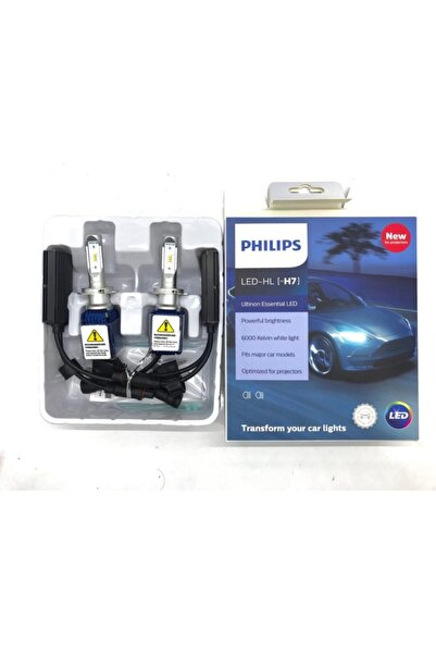 Philips Ultinon Temel Led H7 12v 11972uex2 6000k Araba Parlak Led