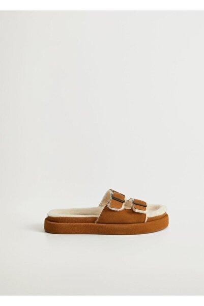 MANGO Woman Kadın Orta Kahverengi Sandalet 77077634