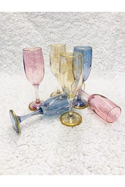 Paşabahçe Bistro Renkli Kahve Yanı Su Bardağı Kadeh 6'lı 44419