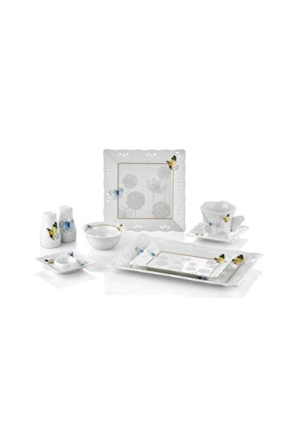 Cemile Beyaz Dandelıon Kahvaltı Takım 33 Parca
