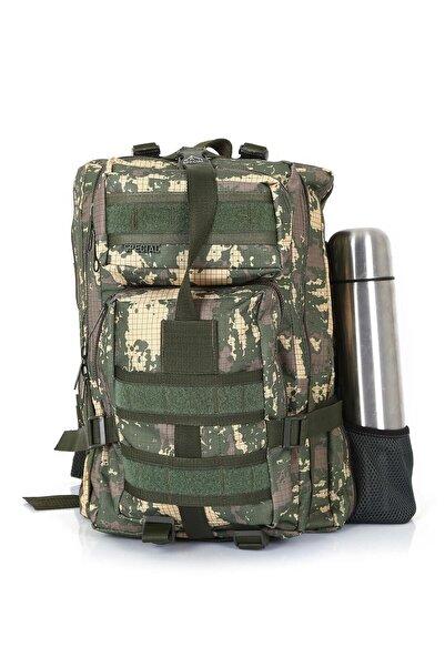 Asker Kolisi Kamuflaj Cordura Dağcı Outdoor Taktik Askeri Çanta 45 l