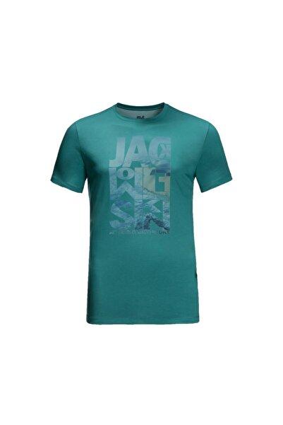 Jack Wolfskin Erkek Yeşil Atlantic Ocean Tişört