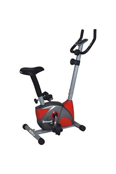 Dynamic 380 Nabız Ölçerli Kırmızı Gri Manyetik Kondisyon Bisikleti