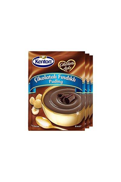Kenton Puding Çikolata Aşkı Çikolata Fındıklı 100 Gr X 3'lü Paket