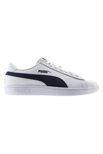 Erkek Beyaz Smash V2 Leather Sneaker