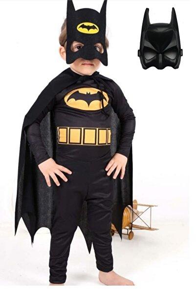 Zeki Karga 3-4 Yaş Batman Çocuk Kostümü Maskeli - Pelerinli Ve 2 Adet Maskeli