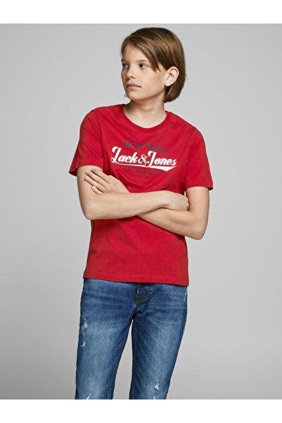 Jack & Jones Erkek Çocuk Kırmızı Logo Tişört 12173882