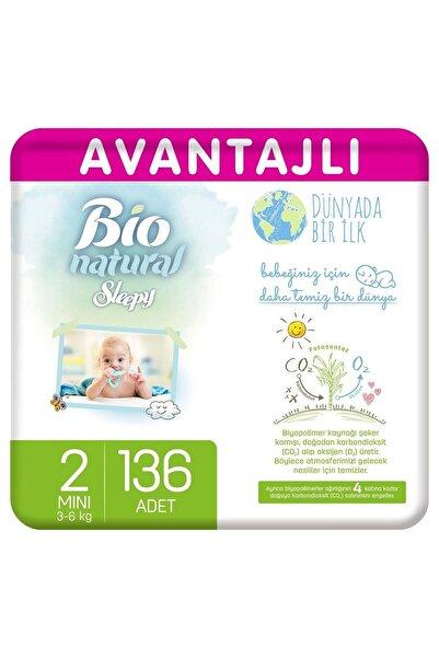 Sleepy Bio Natural Avantajlı Bebek Bezi 2 Numara Mini 136 Adet