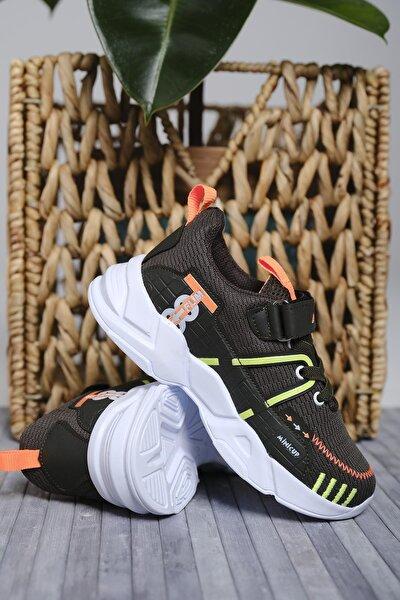 Oksit Çocuk Siyah Mc Kimberly Çizgi Detaylı Örgülü Kalın Taban Sneaker