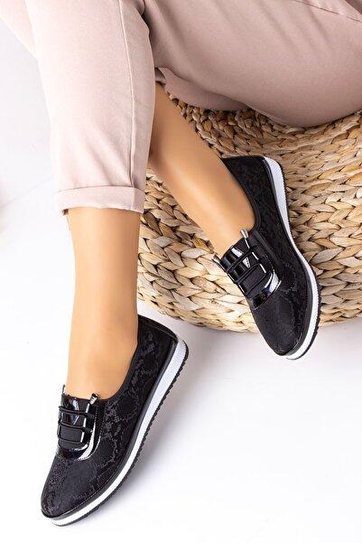 Lal Shoes & Bags Kadın Siyah Areca Parlak Ayakkabı