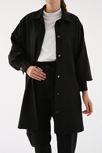 ALLDAY Kadın Siyah Salaş Balon Kol Ceket