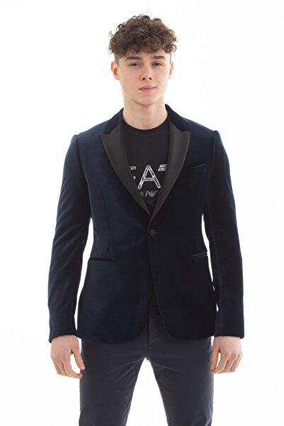 Emporio Armani Erkek Lacivert Blazer Ceket