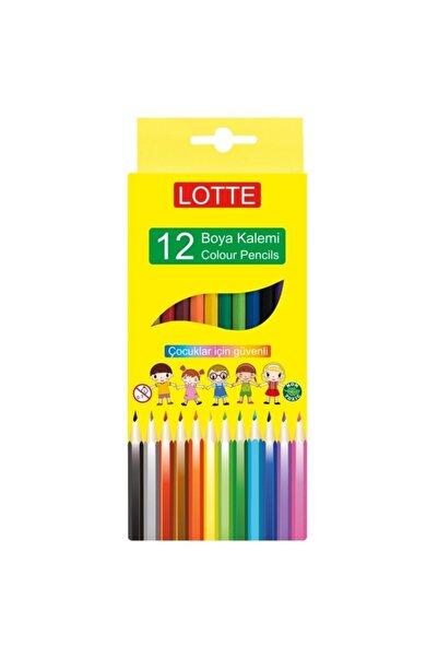 Lotte Kuru Boya Kalemi 12 Renk 12'li Kutu