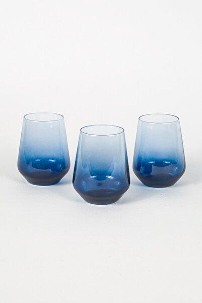 Rakle Mavi Su Bardağı Seti 3'lü