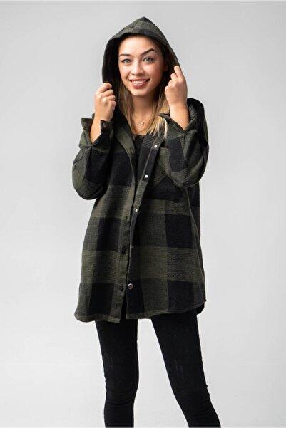 CNS Kadın Haki Gömlek Ceket