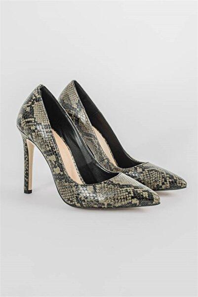 Shoes & More Kadın Haki Topuklu Ayakkabı