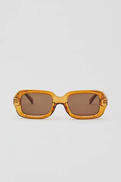 Pull & Bear Kahverengi Camlı Güneş Gözlüğü