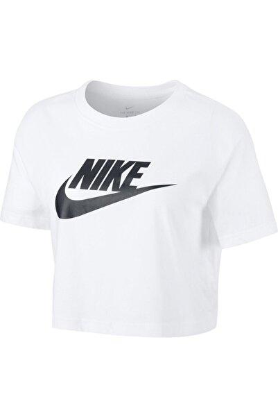 Nike Kadın Beyaz  W Nsw Tee Essntl Crp Icn Ftra