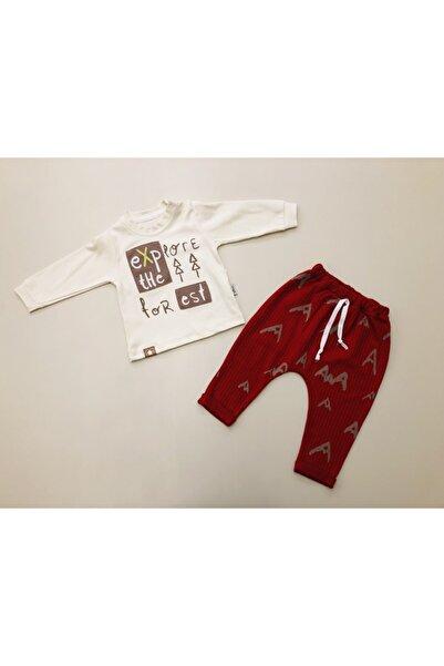 Flexi Erkek Bebek Kırmızı Krem 2'li Takım